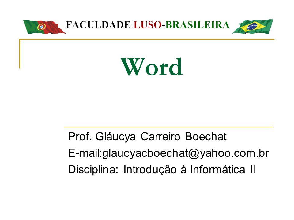 Word Prof. Gláucya Carreiro Boechat