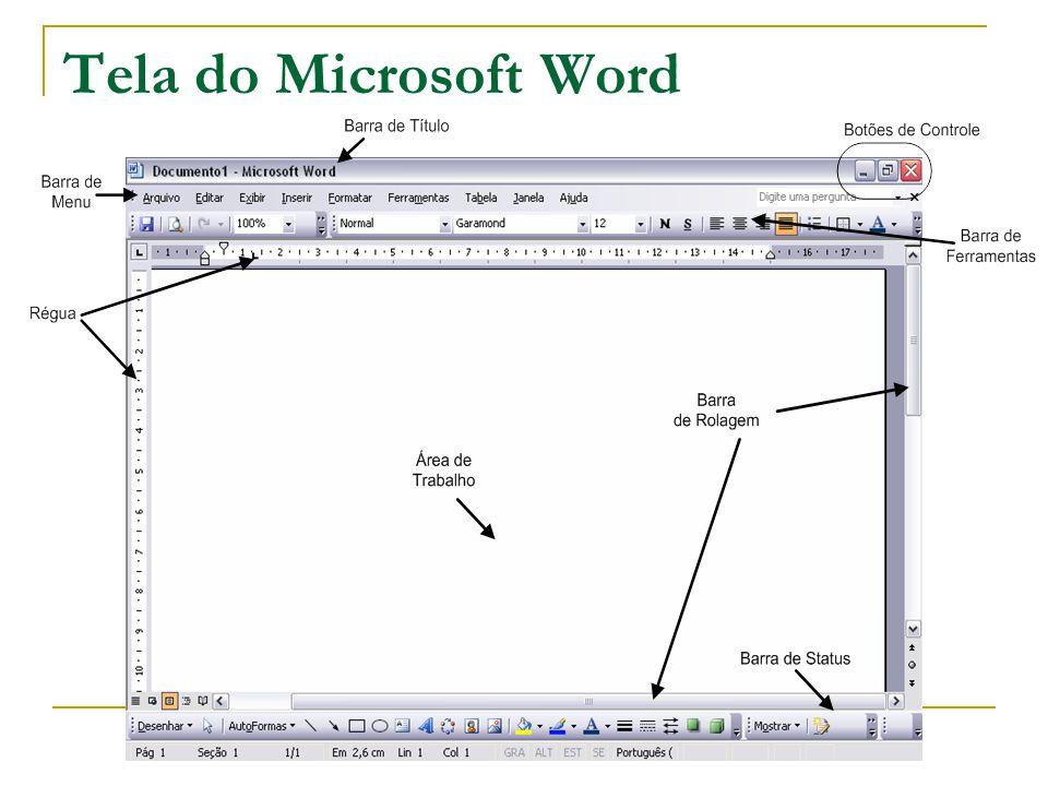 Tela do Microsoft Word