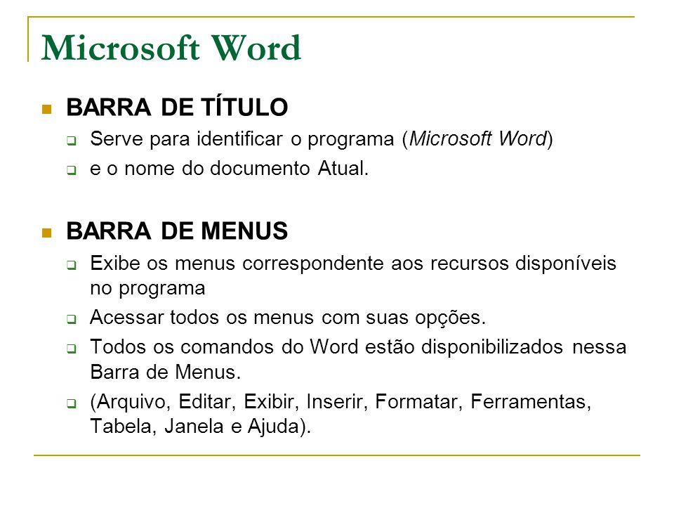 Microsoft Word BARRA DE TÍTULO BARRA DE MENUS