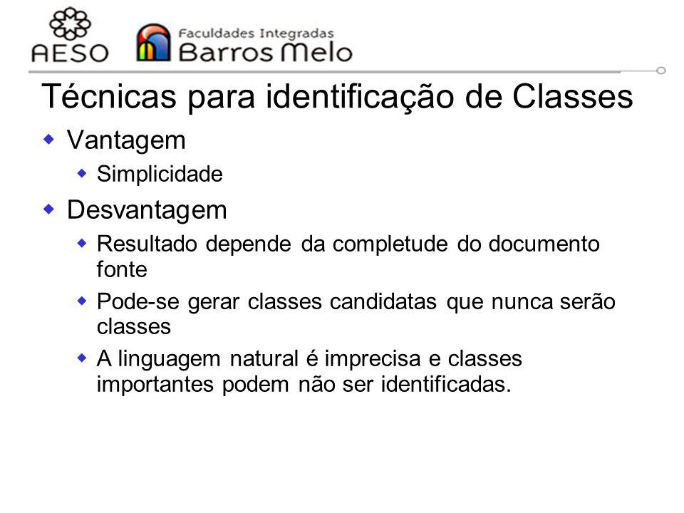 Técnicas para identificação de Classes