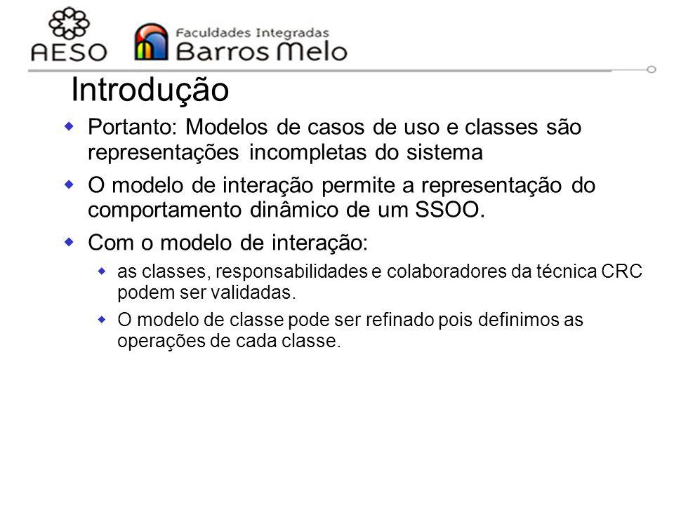 05/04/2017 Introdução. Portanto: Modelos de casos de uso e classes são representações incompletas do sistema.