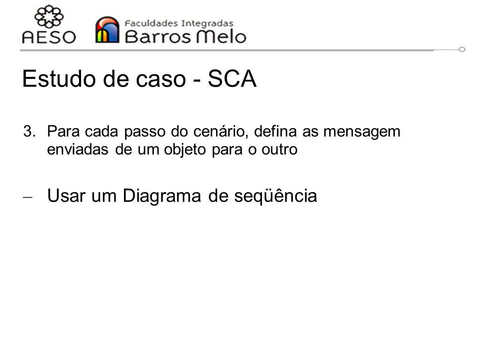 Estudo de caso - SCA Usar um Diagrama de seqüência
