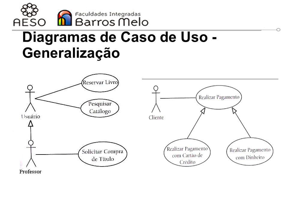 Diagramas de Caso de Uso - Generalização