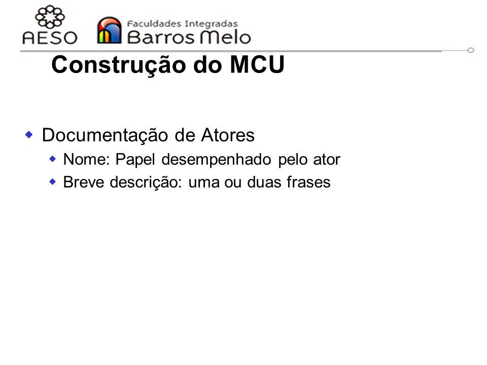 Construção do MCU Documentação de Atores