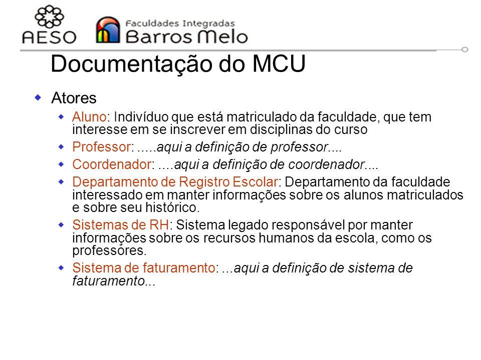Documentação do MCU Atores