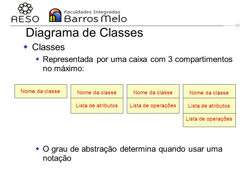 Diagrama de Classes Classes