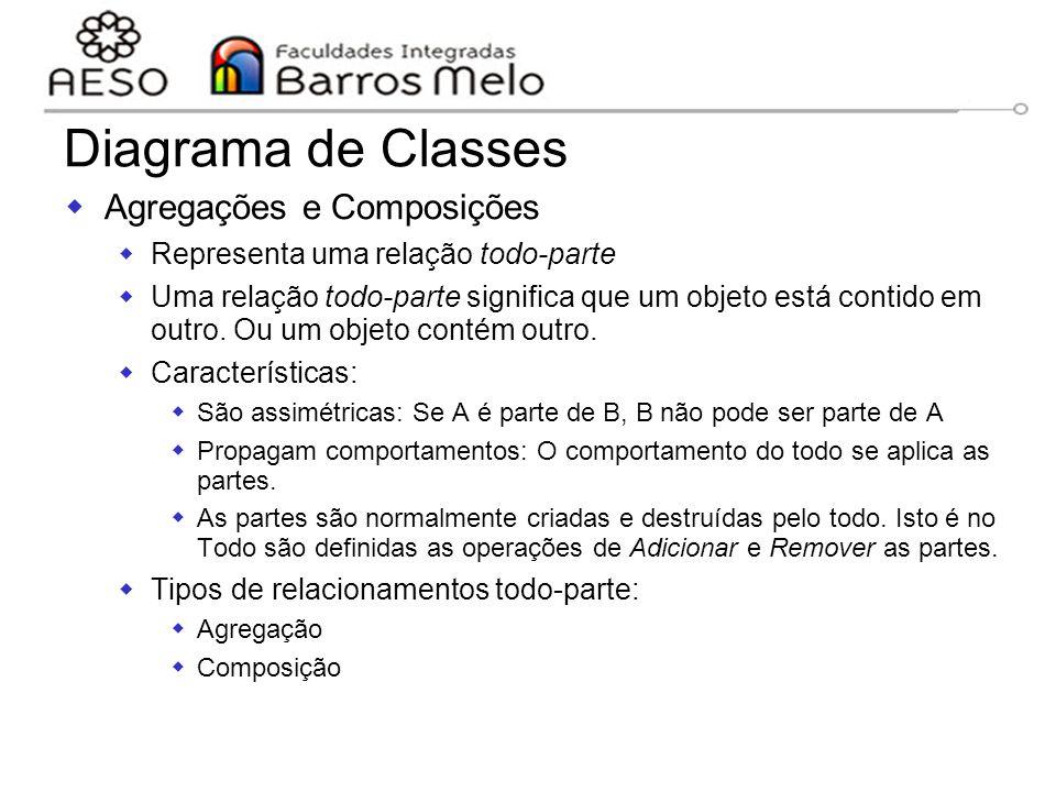 Diagrama de Classes Agregações e Composições