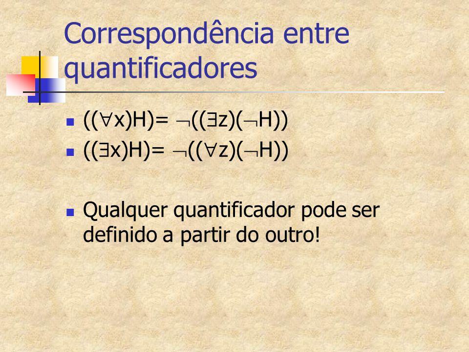 Correspondência entre quantificadores