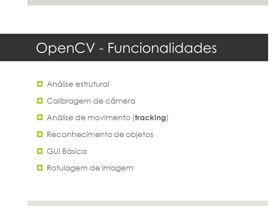 OpenCV - Funcionalidades