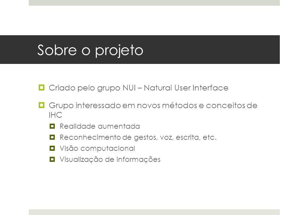 Sobre o projeto Criado pelo grupo NUI – Natural User Interface