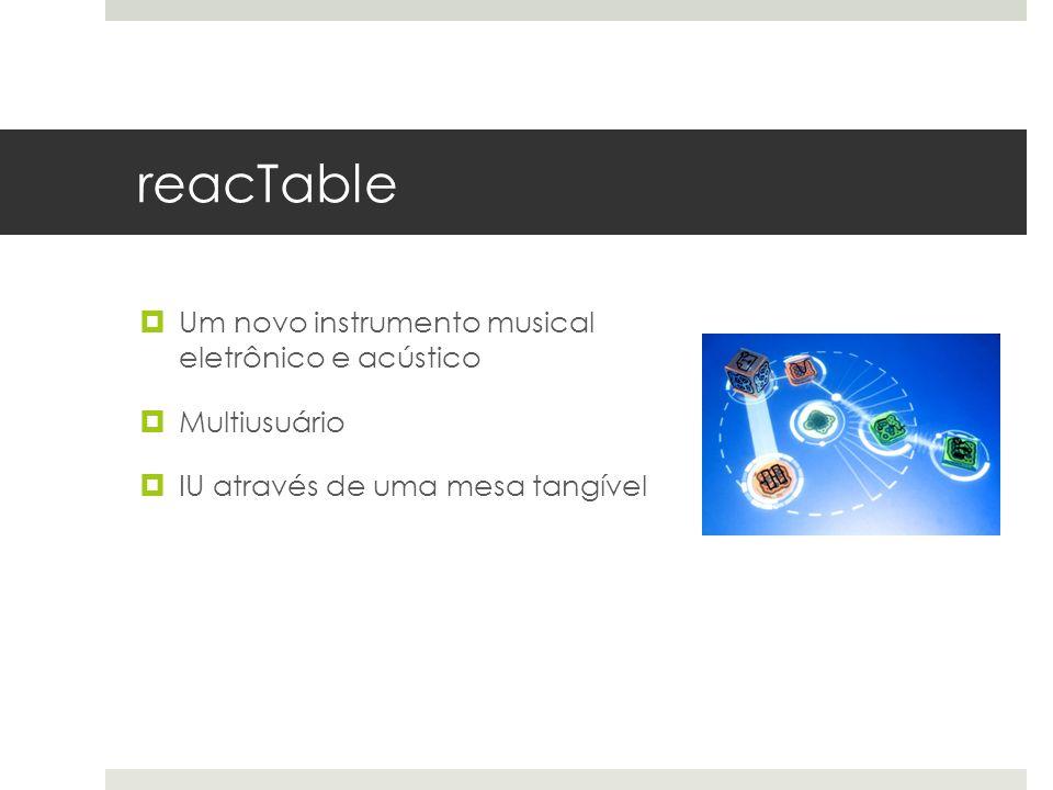 reacTable Um novo instrumento musical eletrônico e acústico