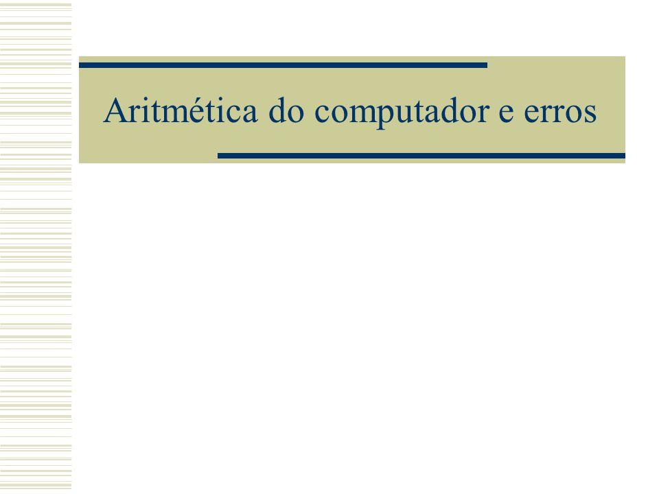 Aritmética do computador e erros