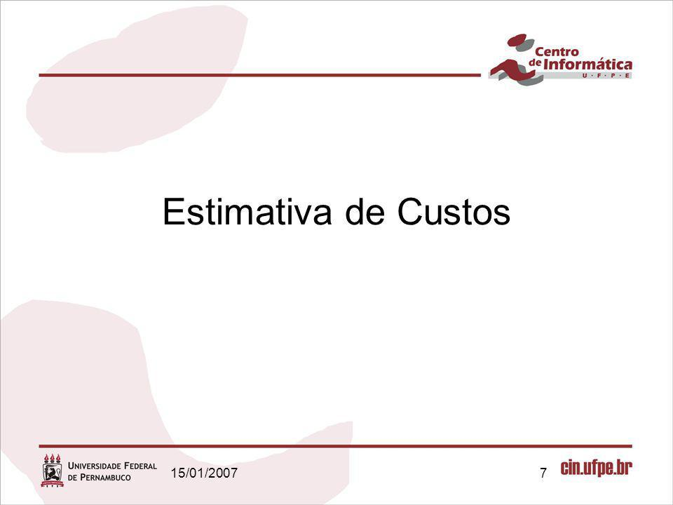 Estimativa de Custos 15/01/2007