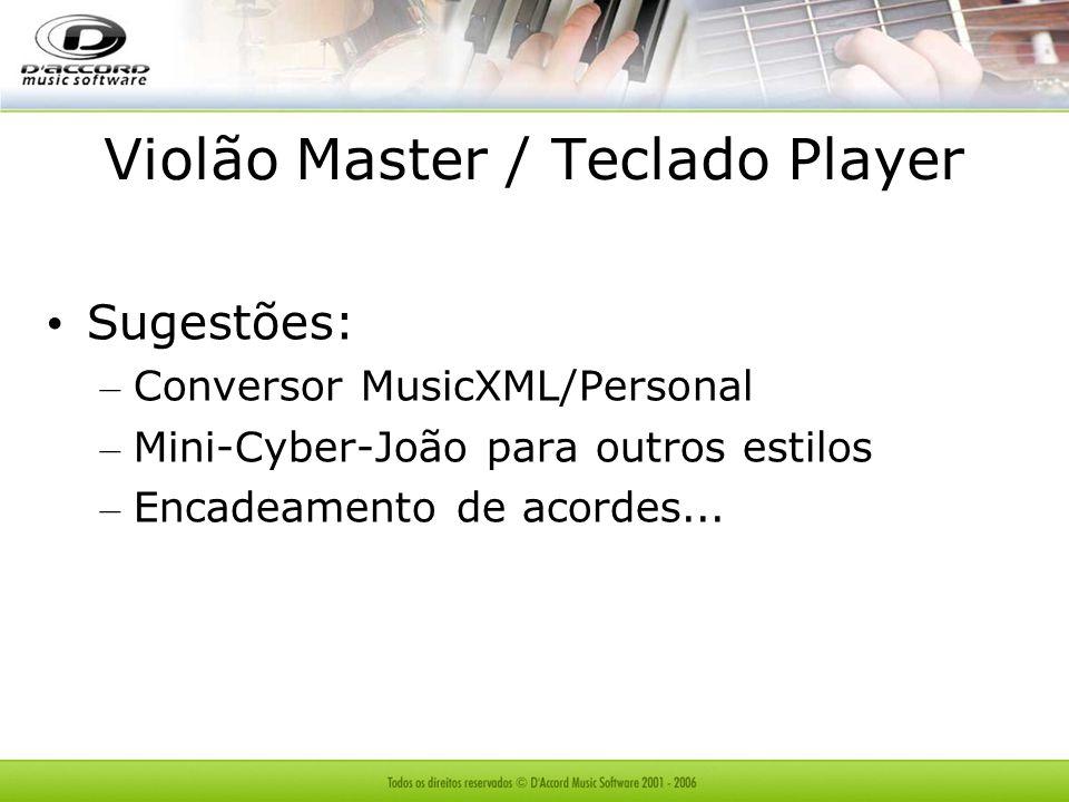 Violão Master / Teclado Player