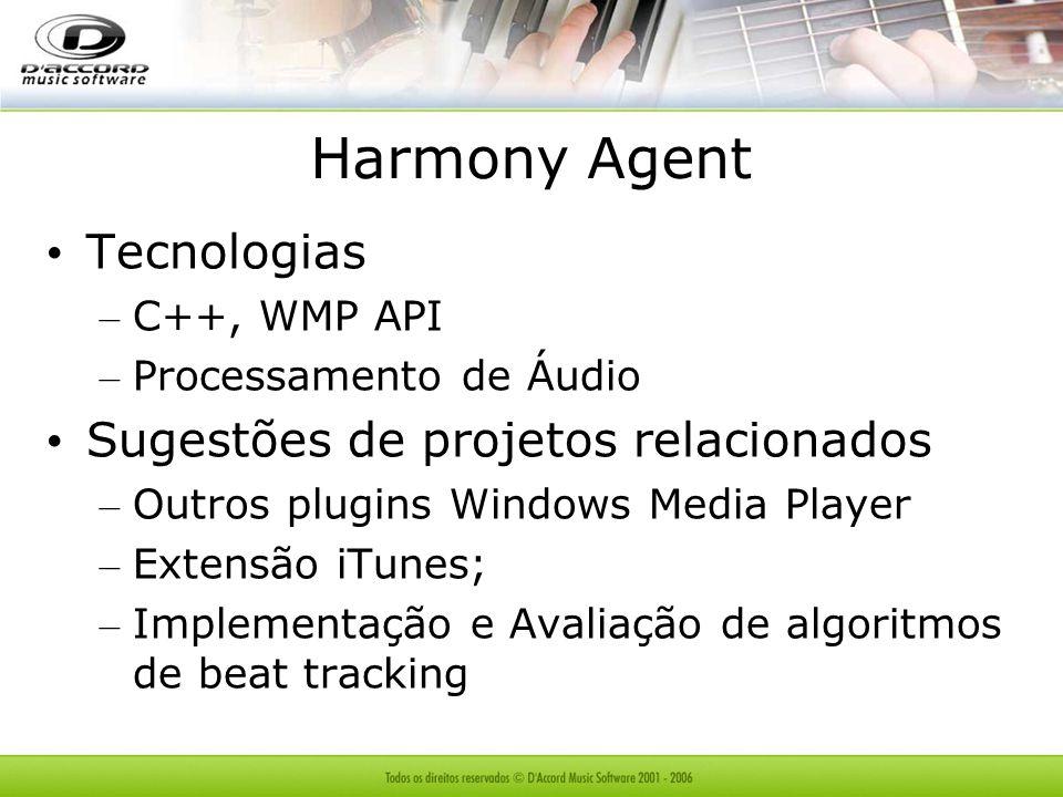 Harmony Agent Tecnologias Sugestões de projetos relacionados