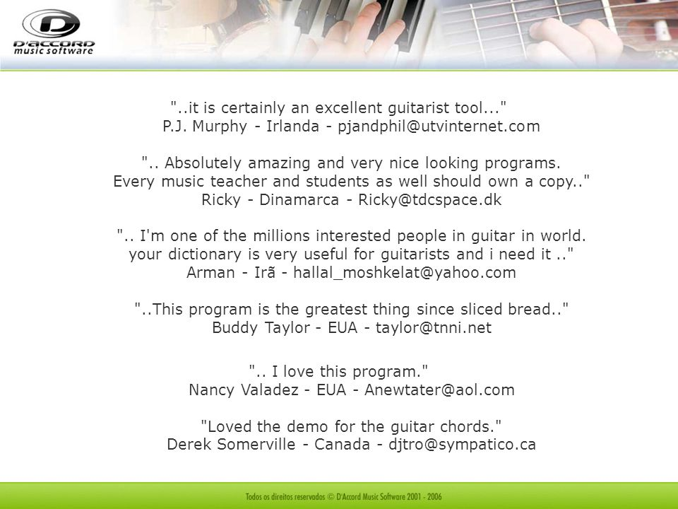. it is certainly an excellent guitarist tool. P. J