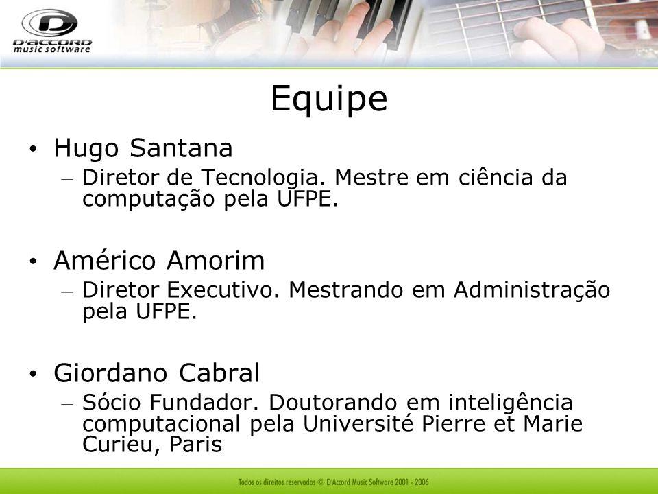 Equipe Hugo Santana Américo Amorim Giordano Cabral