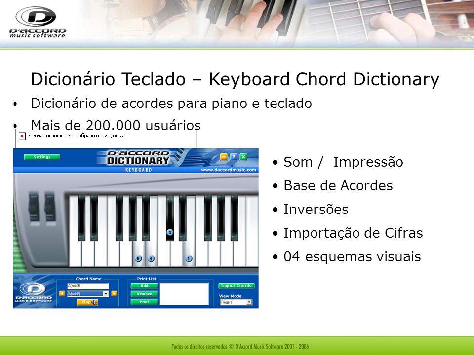 Dicionário Teclado – Keyboard Chord Dictionary