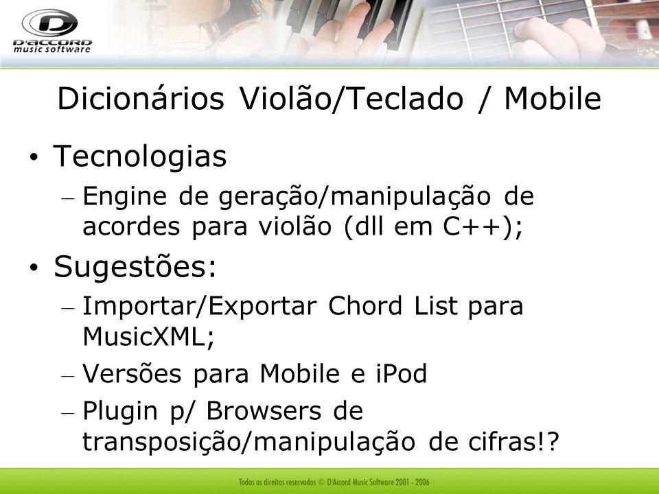 Dicionários Violão/Teclado / Mobile