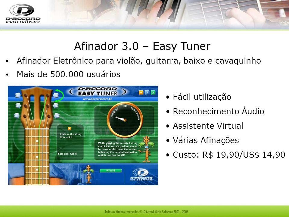 Afinador 3.0 – Easy Tuner Afinador Eletrônico para violão, guitarra, baixo e cavaquinho. Mais de 500.000 usuários.