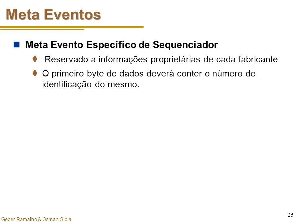 Meta Eventos Meta Evento Específico de Sequenciador
