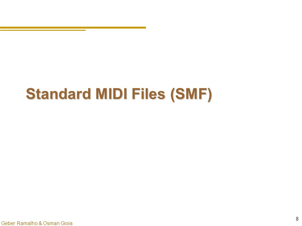Standard MIDI Files (SMF)