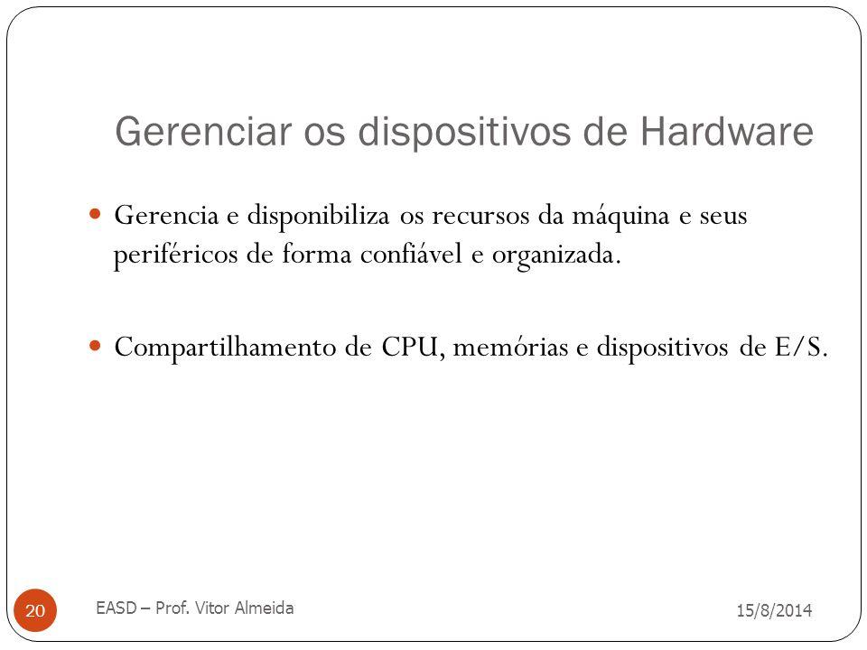 Gerenciar os dispositivos de Hardware