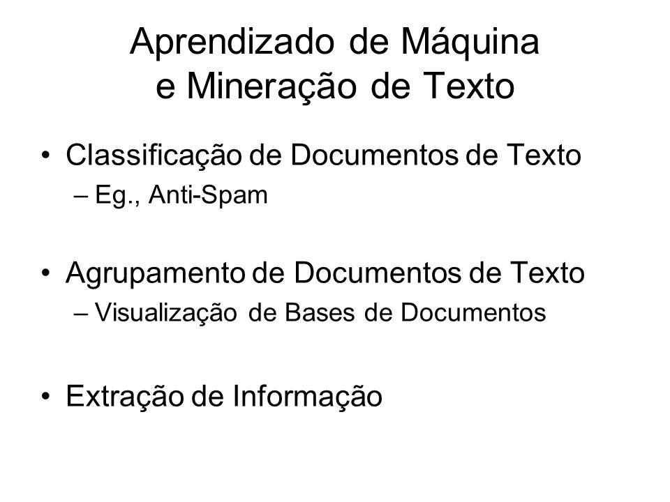 Aprendizado de Máquina e Mineração de Texto