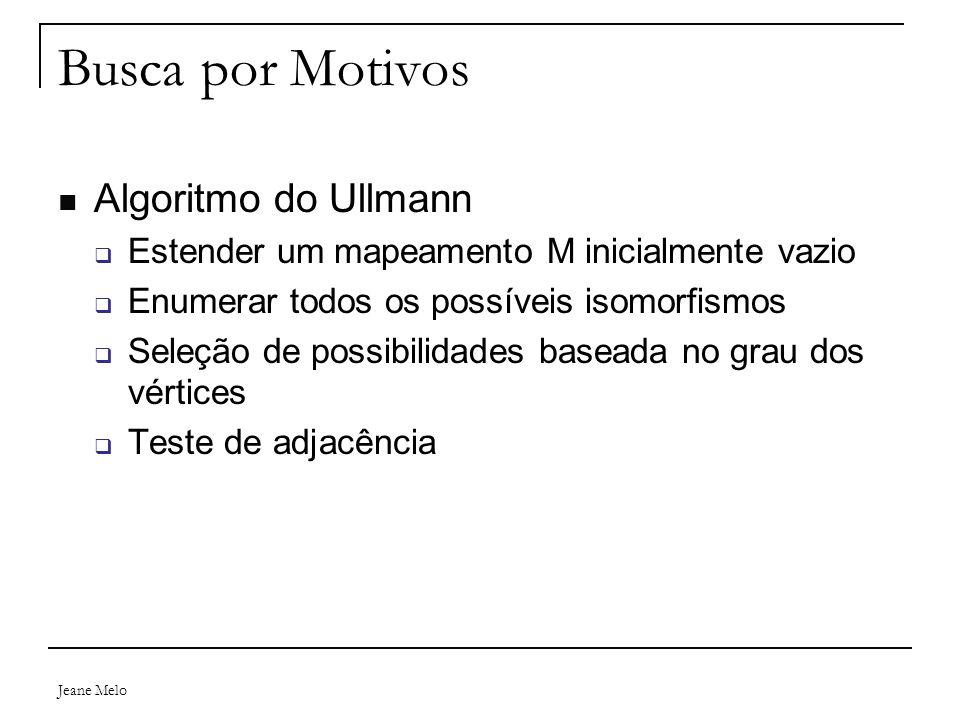 Busca por Motivos Algoritmo do Ullmann