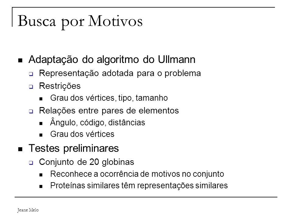 Busca por Motivos Adaptação do algoritmo do Ullmann