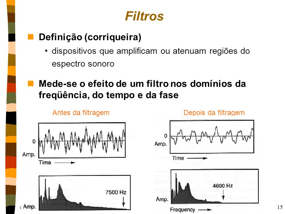 Filtros Definição (corriqueira)