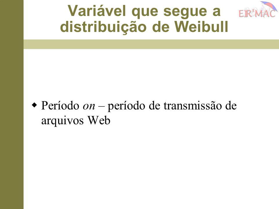 Variável que segue a distribuição de Weibull