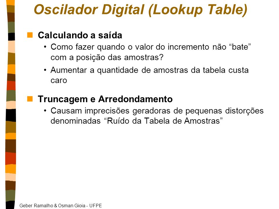 Oscilador Digital (Lookup Table)