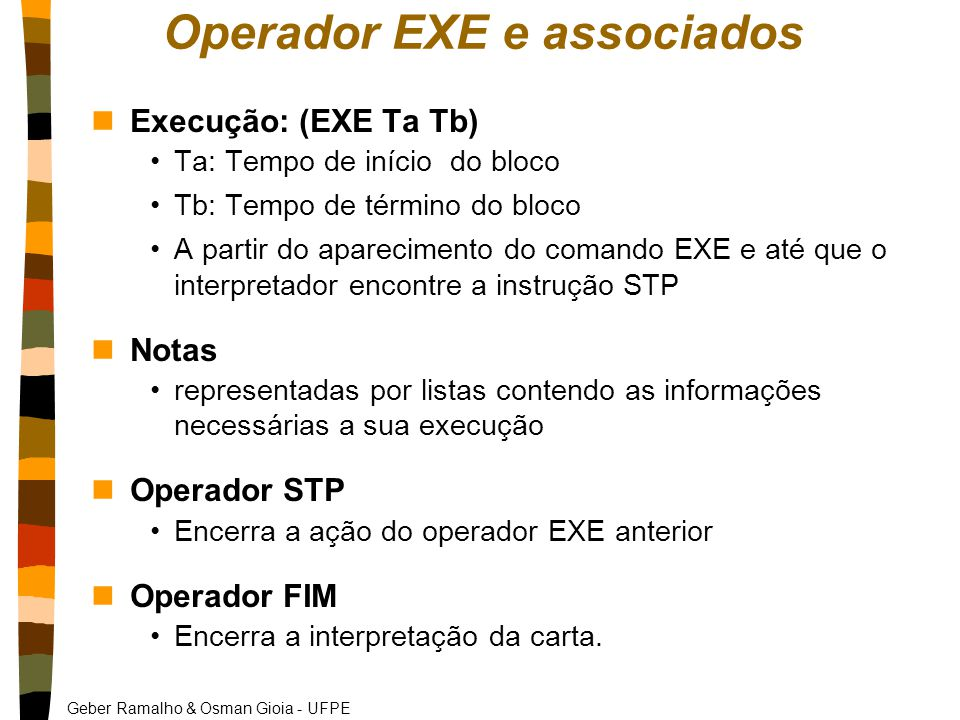 Operador EXE e associados