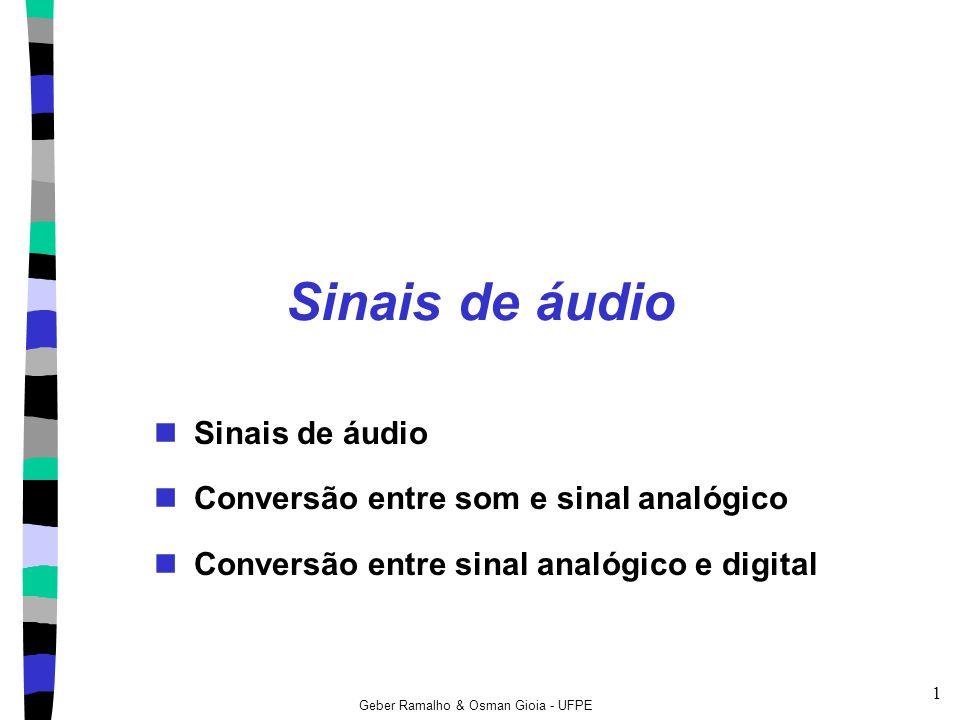 Sinais de áudio Sinais de áudio Conversão entre som e sinal analógico