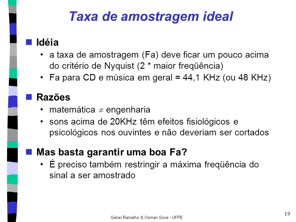 Taxa de amostragem ideal