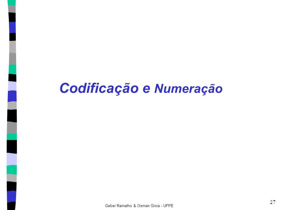 Codificação e Numeração