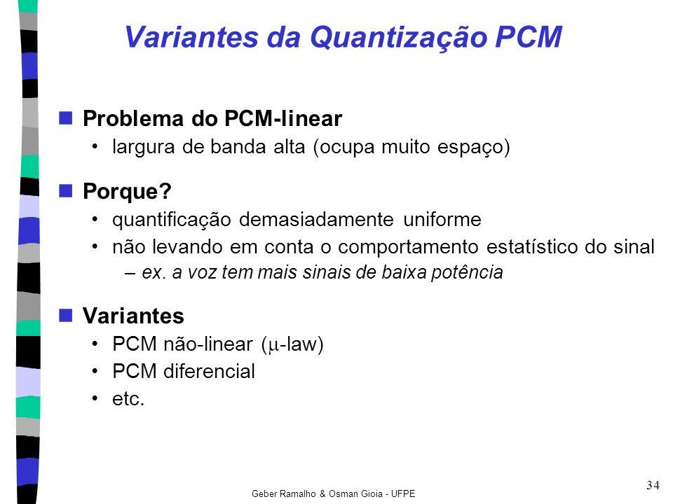 Variantes da Quantização PCM