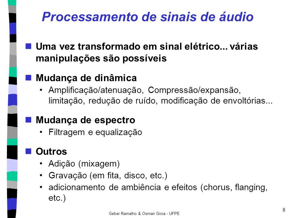 Processamento de sinais de áudio