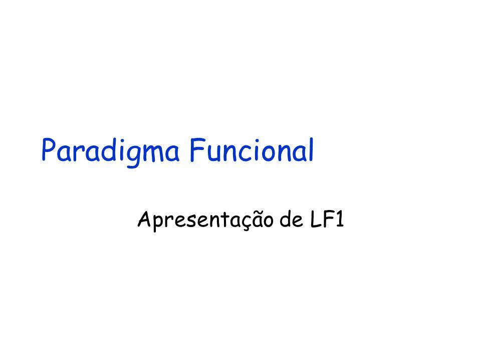 Paradigma Funcional Apresentação de LF1