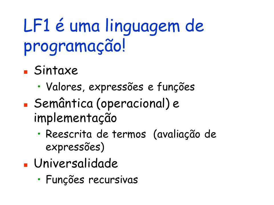 LF1 é uma linguagem de programação!