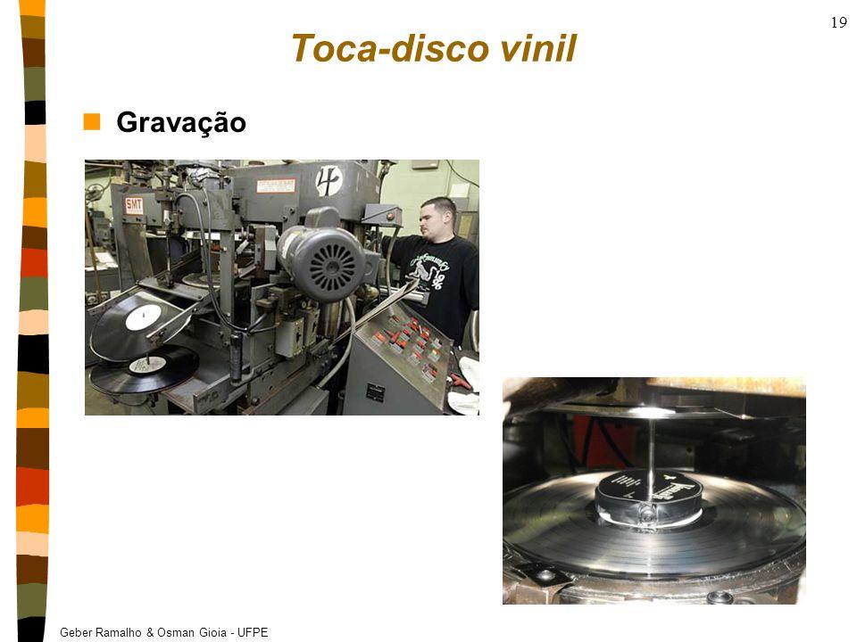 Toca-disco vinil Gravação