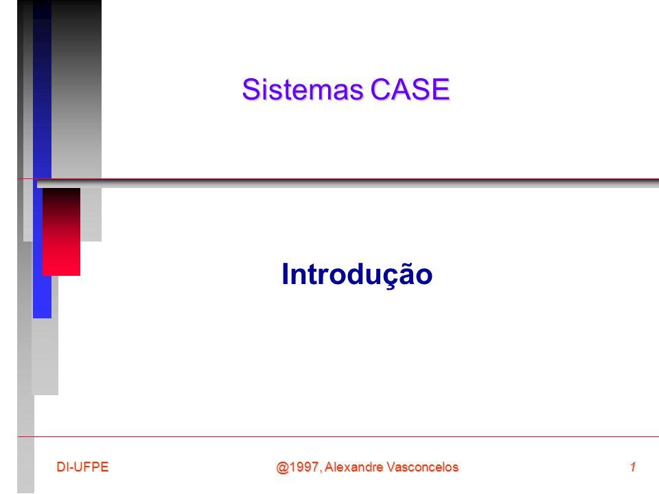 Sistemas CASE Introdução DI-UFPE @1997, Alexandre Vasconcelos
