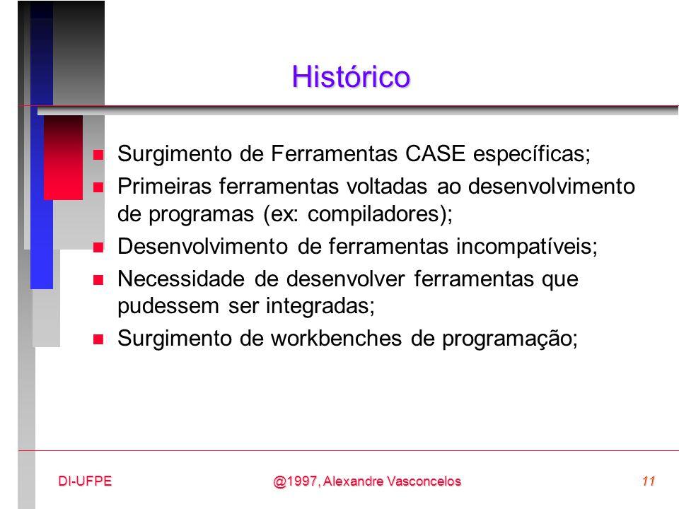 Histórico Surgimento de Ferramentas CASE específicas;