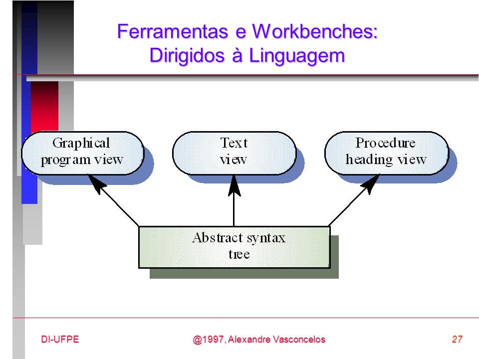 Ferramentas e Workbenches: Dirigidos à Linguagem