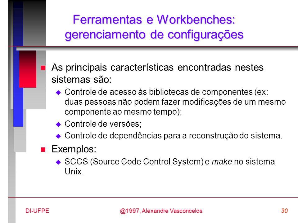 Ferramentas e Workbenches: gerenciamento de configurações
