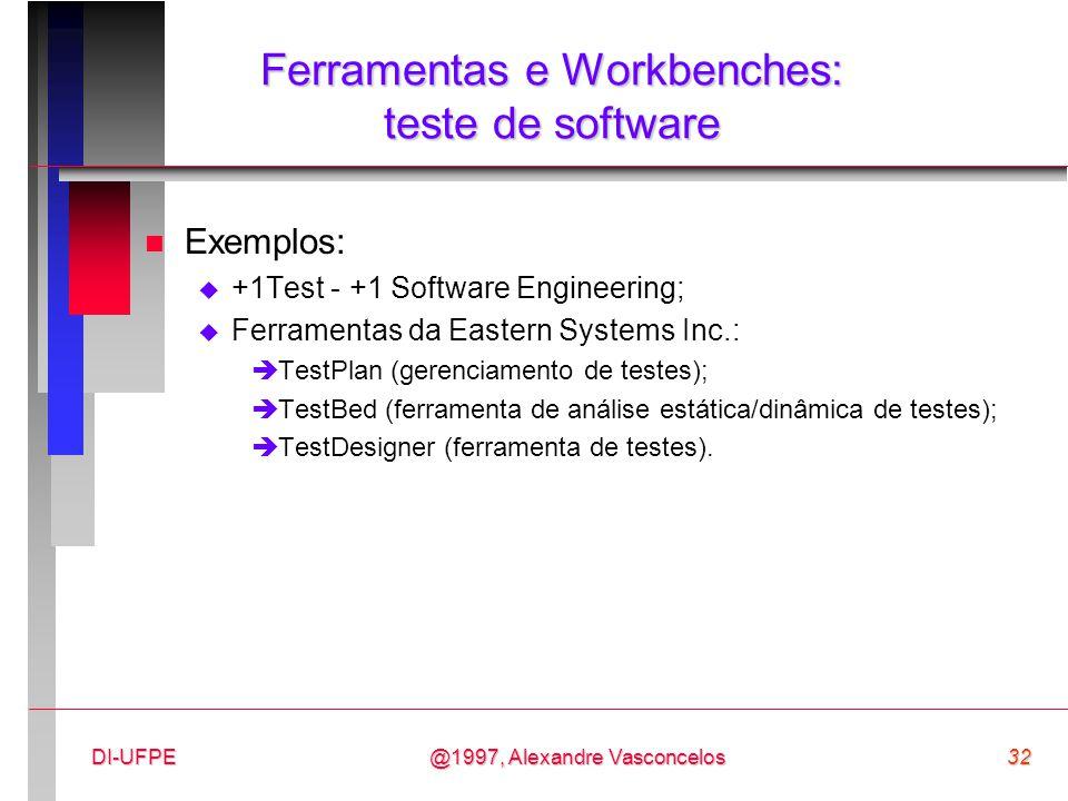 Ferramentas e Workbenches: teste de software