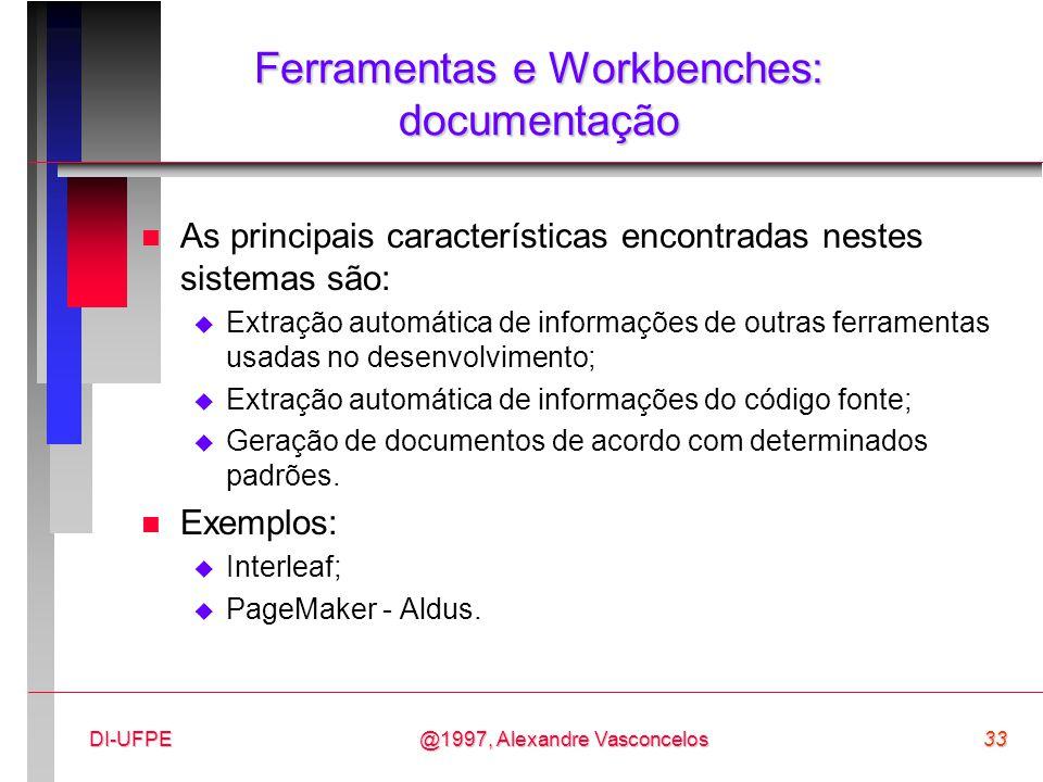 Ferramentas e Workbenches: documentação