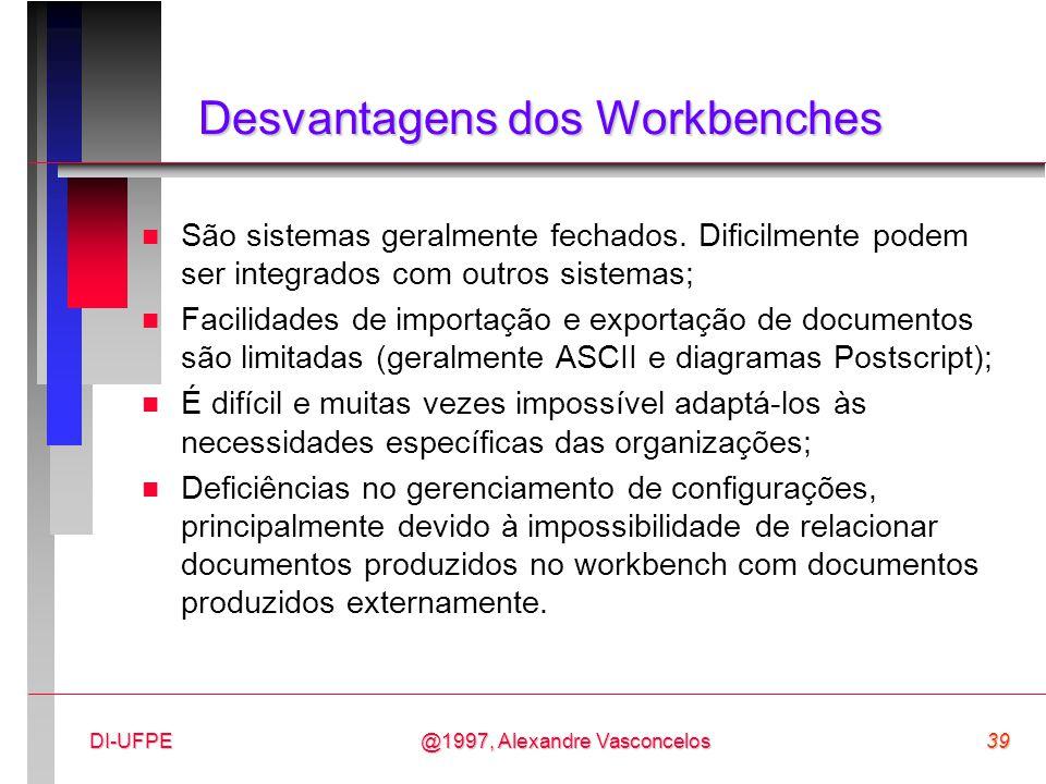 Desvantagens dos Workbenches