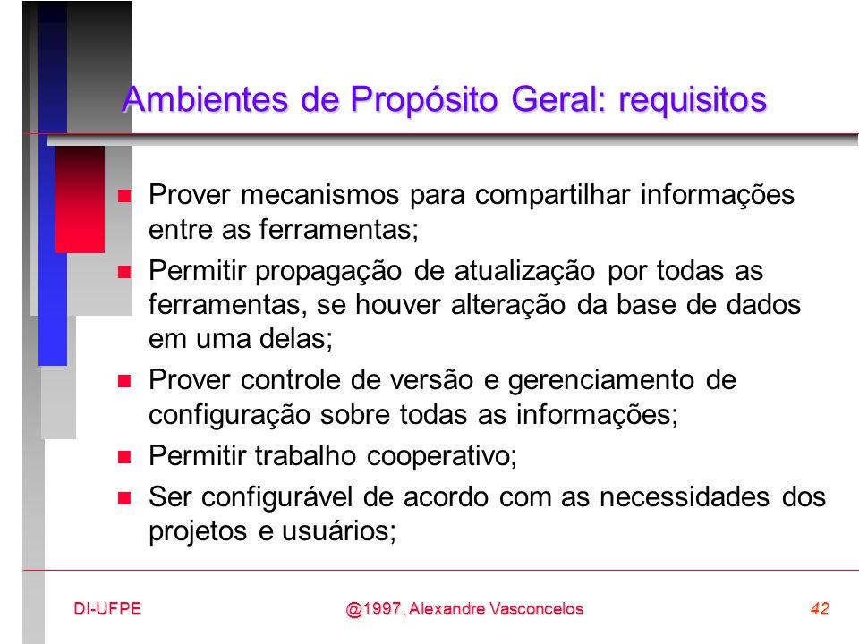 Ambientes de Propósito Geral: requisitos
